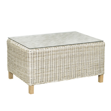 Forever Patio Carlisle Woven Wicker Coffee Table Alabaster