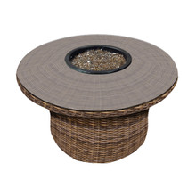"Forever Patio Cypress 42"" Round Wicker Fire Table"