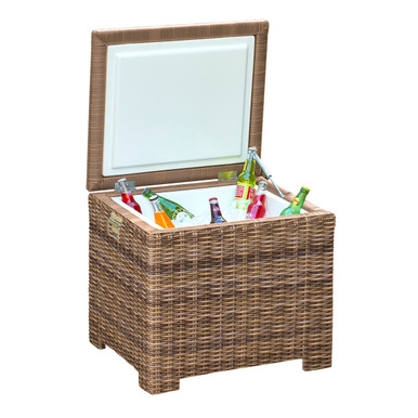 Forever Patio Cypress Wicker End Table Ice Chest