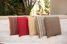 "Forever Patio Sunbrella Outdoor Square Throw Pillow 24"""
