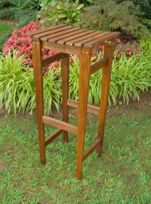 International Caravan Highland Outdoor Acacia Backless Bar Stools (Set of 2)