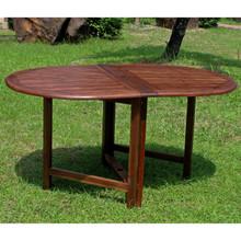 International Caravan Highland Acacia Oval Gate Leg Dining Table