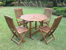 International Caravan Highland Acacia 5-piece Stowaway Dining Set