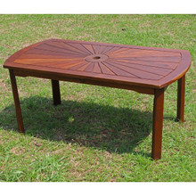 International Caravan Highland Acacia Sunburst Coffee Table