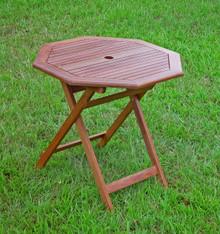 International Caravan Highland Acacia 30-inch Octagonal Folding Table