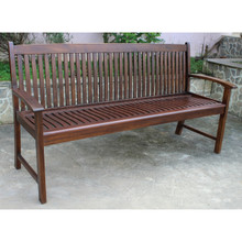 International Caravan Highland Acacia Hudson Three-seater Park Bench