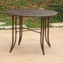 "International Caravan Mandalay Wrought Iron 39"" Round Dining Table"