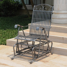 International Caravan Mandalay Single Iron Glider Chair
