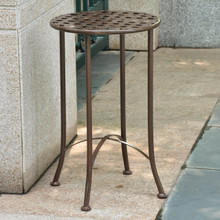 International Caravan Mandalay 16-inch Round Outdoor Side Table