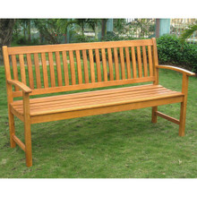 International Caravan Royal Tahiti Yellow Balau Hardwood Three-Seater Park Bench