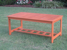 International Caravan Royal Tahiti Gulf Port Yellow Balau Wood Outdoor Rectangular Coffee Table