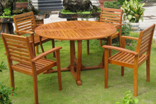 "International Caravan Royal Tahiti 5-Piece 51.5"" Round Gateleg Dining Set"