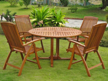 "International Caravan Royal Tahiti Teruel 5-Piece 51.5"" Round Gateleg Dining Set"