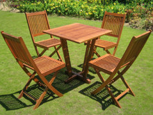 International Caravan Royal Tahiti Cadiz Yellow Balau Hardwood 5-Piece Outdoor Bistro Set