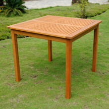 International Caravan Royal Tahiti Yellow Balau Hardwood Outdoor 32-inch Square Dining Table