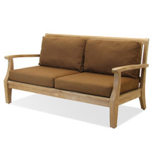 Forever Patio Miramar Plantation Teak 3 Seater Sofa Forever Patio Miramar Plantation Teak Lounge Chair Sunbrella Cast Ash With Self Welt