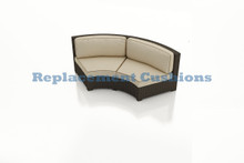 Forever Patio Hampton Radius Curved Love Seat Replacement Cushions