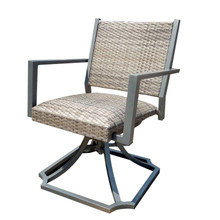 Forever Patio Spirit Padded Wicker Swivel Dining Arm Chair by NorthCape International