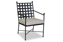 Provence Dining Chair with cushions in Canvas Flax with self welt
