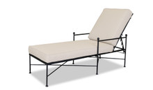 Provence Chaise Lounge With Cushions In Canvas Flax With Self Welt