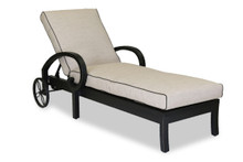 Monterey Chaise Lounge With Cushions In Frequency Sand With Canvas Walnut Welt