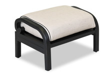 Monterey Ottoman With Cushions In Frequency Sand With Canvas Walnut Welt