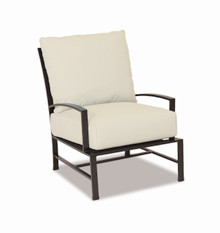 La Jolla Club Chair with cushions in Canvas Flax with self welt