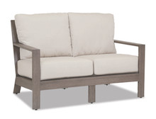 Laguna Loveseat with cushions in Canvas Flax