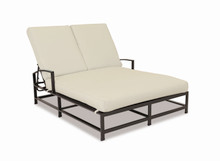 La Jolla Double Chaise with cushions in Canvas Flax with self welt