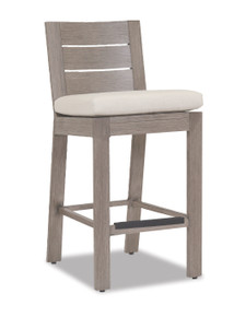 Laguna Barstool With Cushions In Canvas Flax