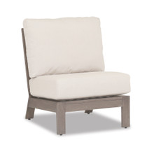 Laguna Armless Club with cushions in Canvas Flax