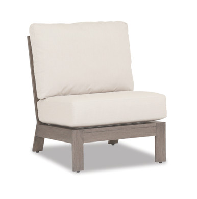 Laguna Armless Club with cushions in Canvas Flax