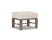 Laguna Ottoman With Cushions In Canvas Flax