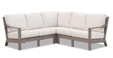 Laguna Sectional with cushions in Canvas Flax