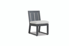 Redondo Armless Dining Chair With Cushions In Cast Silver