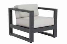 Redondo Club Chair With Cushions In Cast Silver