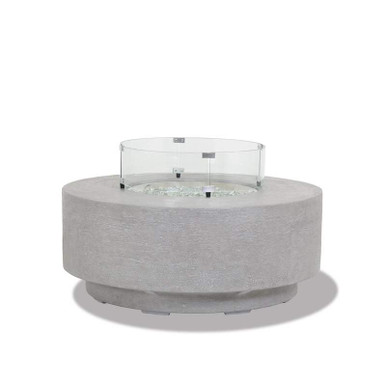 Round Fire Table Glass Surround