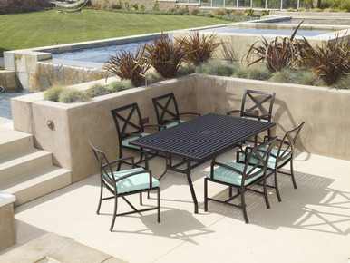"""La Jolla 72"""" Rectangular Dining Table With Dining Chairs"""
