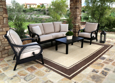 Monterey Sofa With Club Chairs And Coffee Table