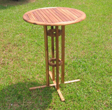 International Caravan Highland Acacia Bar Height Bistro Table