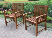 International Caravan Highland Acacia Hudson Arm Chair