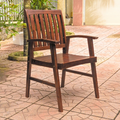 International Caravan Highland Acacia Americana Arm Chair