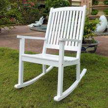 International Caravan Royal Tahiti Acacia Wood Rocker Antique White