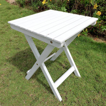 International Caravan Royal Tahiti Acacia Wood Square Folding Table Antique White