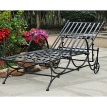 International Caravan Mandalay Single Multi-Position Chaise Lounge Antique Black
