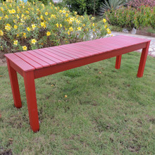 International Caravan Royal Fiji Acacia 52-inch Picnic Bench Barn Red