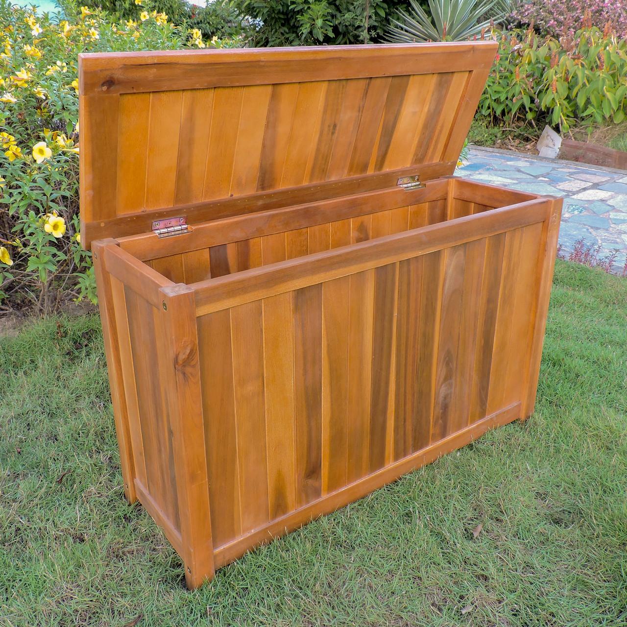 Magnificent International Caravan Royal Fiji Acacia Rectangular Storage Trunk Dailytribune Chair Design For Home Dailytribuneorg