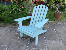 International Caravan Royal Fiji Acacia Adirondack Chair Sky Blue