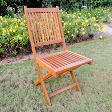 International Caravan Royal Fiji Acacia Folding Garden Chair Stain