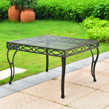 International Caravan Segovia Iron 30-Inch Square Coffee Table